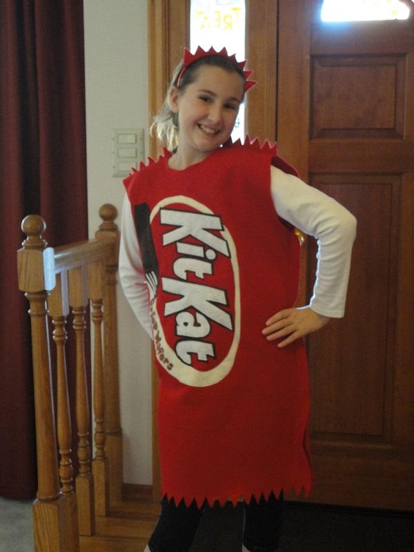 Disfraces de fieltro fáciles para Carnaval, Kit Kat