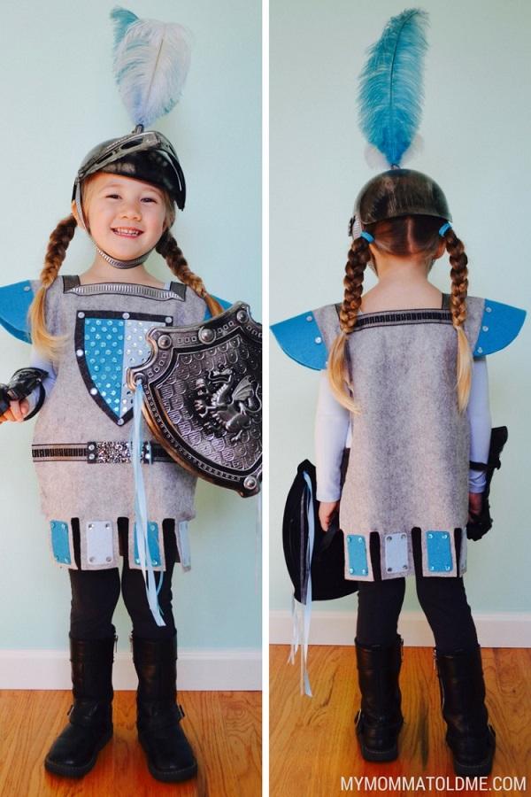 Disfraces de fieltro fáciles para Carnaval, guerrero medieval