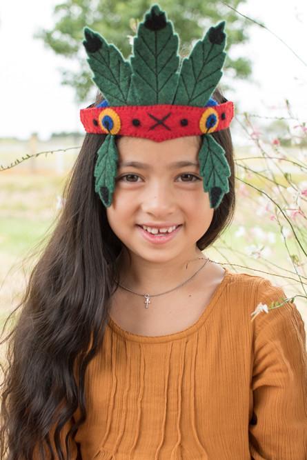 Disfraces de fieltro fáciles para Carnaval, nativo americana