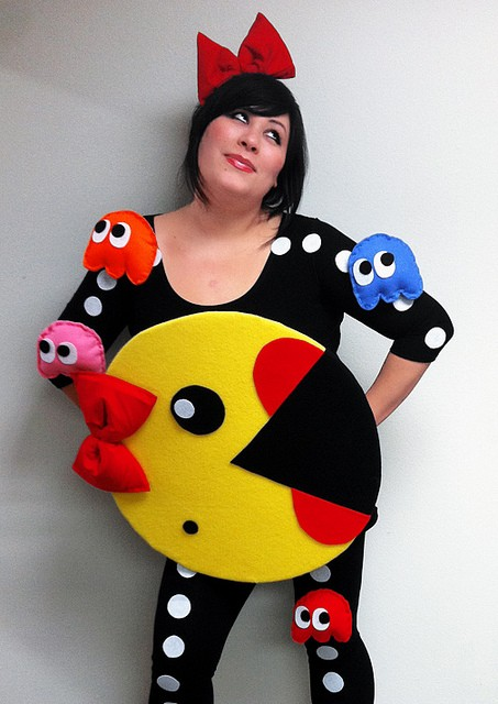 Disfraces de fieltro fáciles para Carnaval, Pac-Man