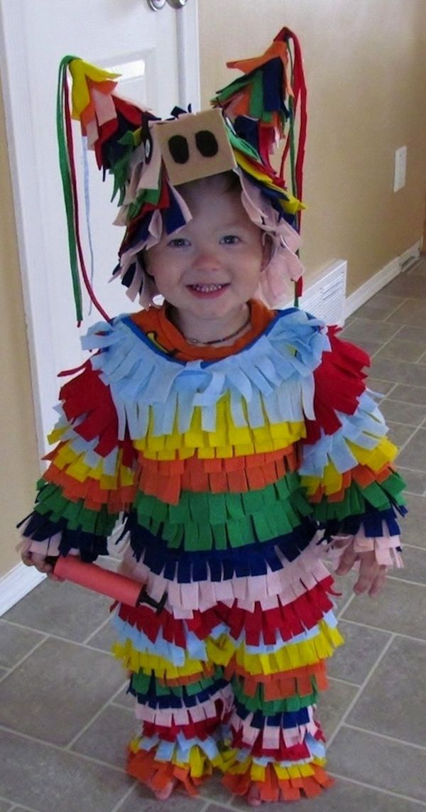 Disfraces de fieltro fáciles para Carnaval, piñata