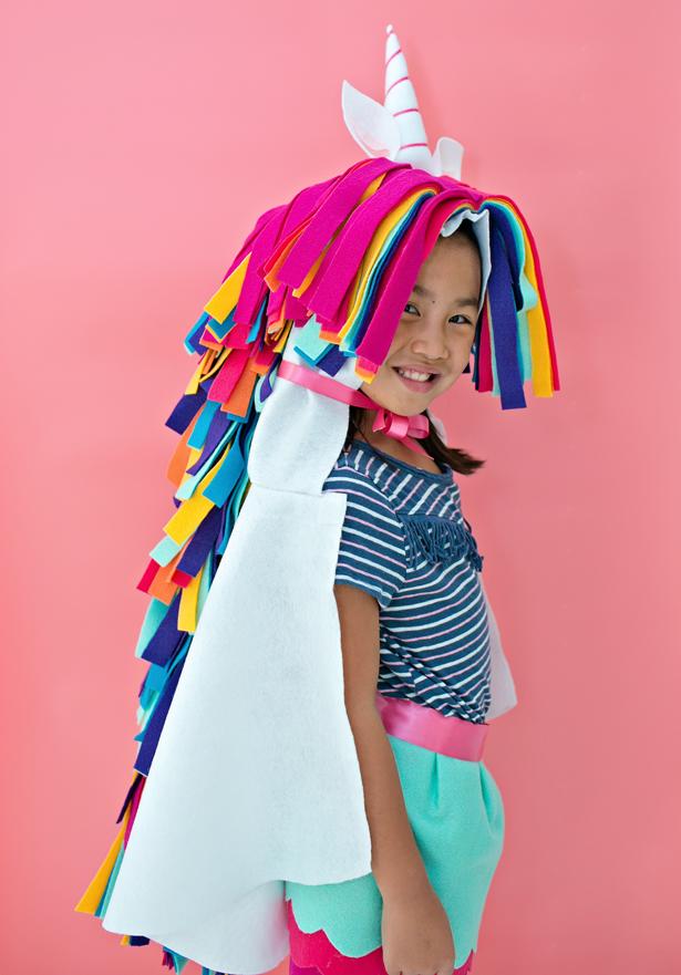 Disfraces de fieltro fáciles para Carnaval, unicornio