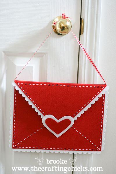 Manualidades de fieltro para San Valentín, carta de amor