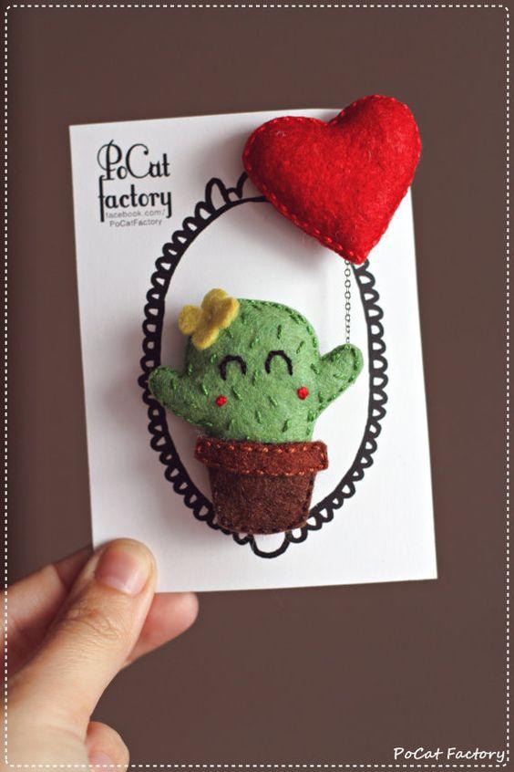 Tarjeta san valentin cactus amor