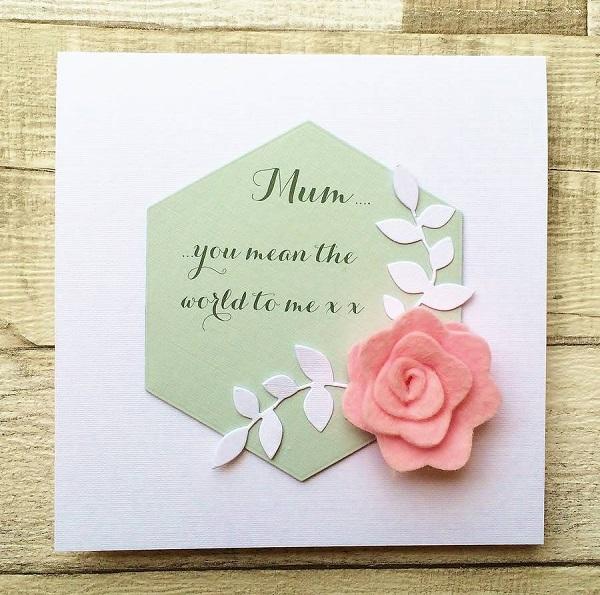 Postales fieltro día de la madre flores 3
