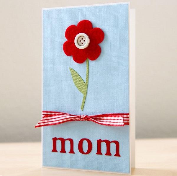 Postales fieltro día de la madre flores 4