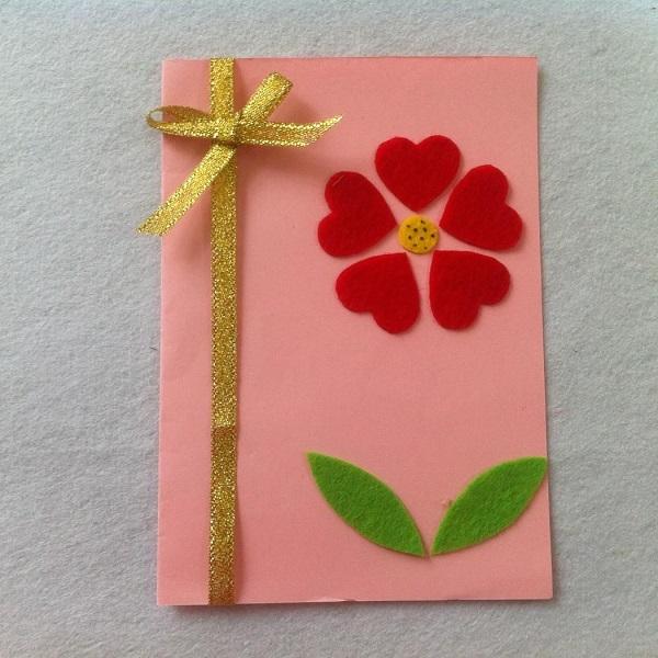 Postales fieltro día de la madre flores 6