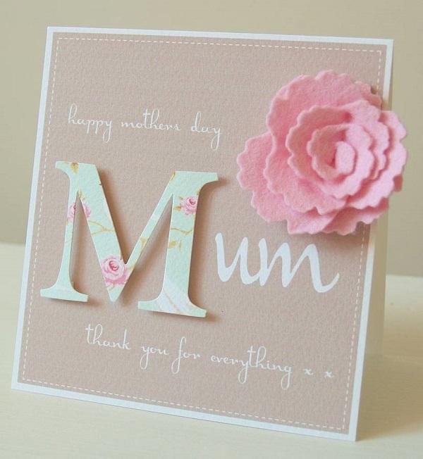 Postales fieltro día de la madre flores 7