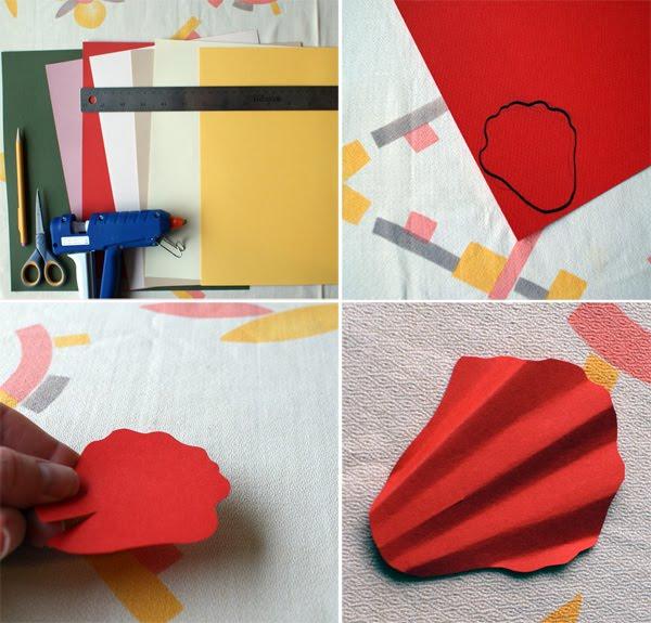 Cómo hacer amapola de papel para broche paso 1