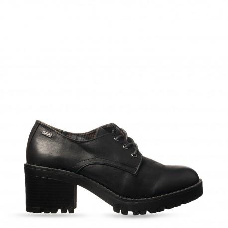Zapato cerrado tacón ancho