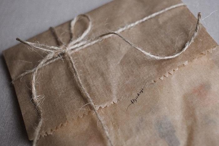 Sobres originales cartas papel kraft