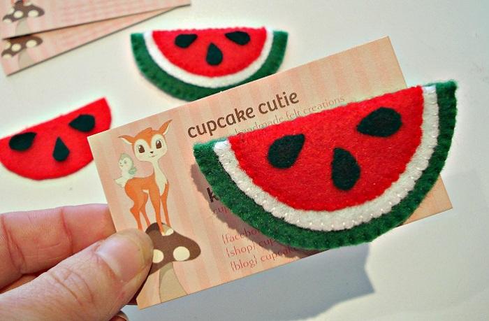 Packaging para broches de fieltro, tarjetas bonitas 2