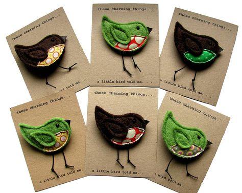 Packaging para broches de fieltro, tarjetas bonitas