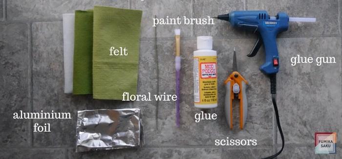 Tutorial cómo hacer flores de fieltro ranúnculo paso materiales
