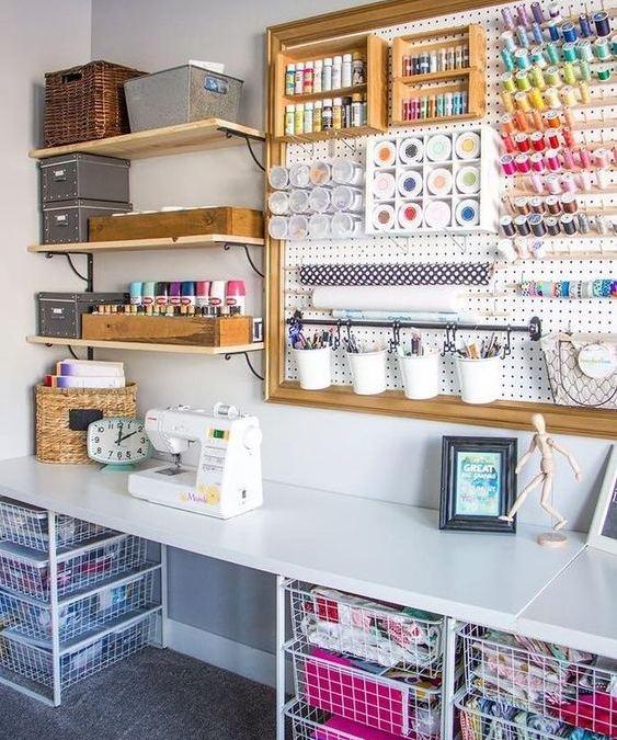 Ideas para ordenar materiales de manualidades