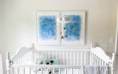 Móviles de fieltro para la cuna del bebé