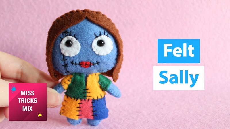 Tutorial muñeca de fieltro Sally