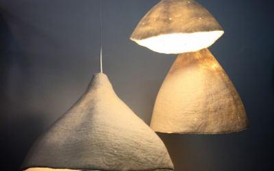 Pantallas de Lámpara de Fieltro: Diseño y Textura Acogedora