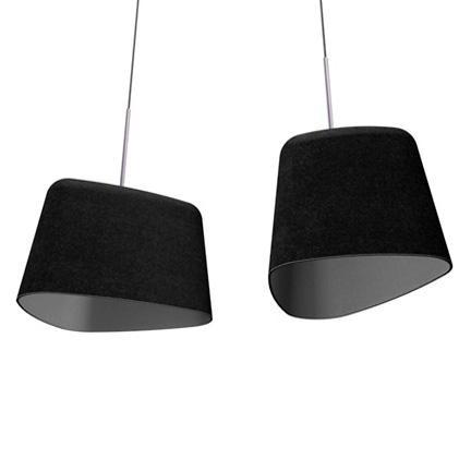 Pantalla de lámpara de fieltro negro