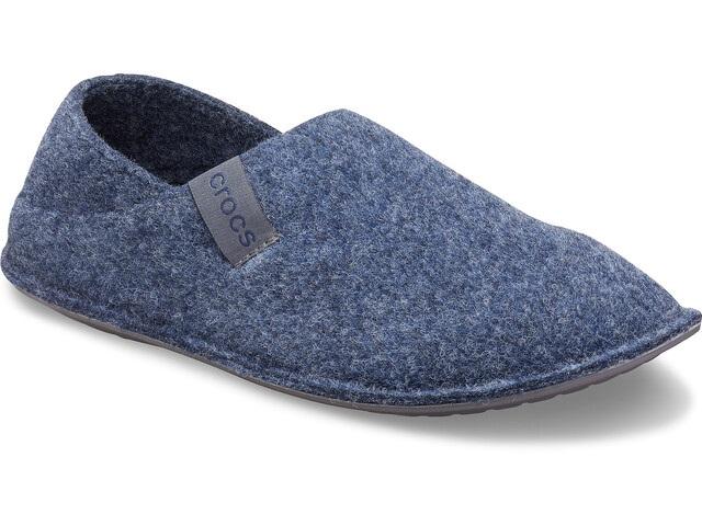 Pantuflas Crocs de fieltro azules