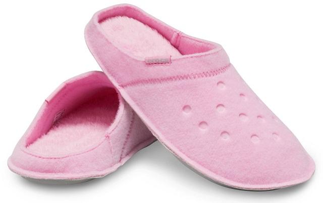 Crocs de fieltro rosa