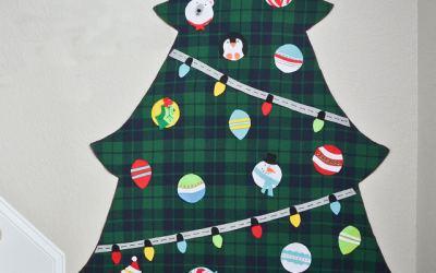 Crea tu Árbol de Navidad de fieltro y decóralo a tu gusto